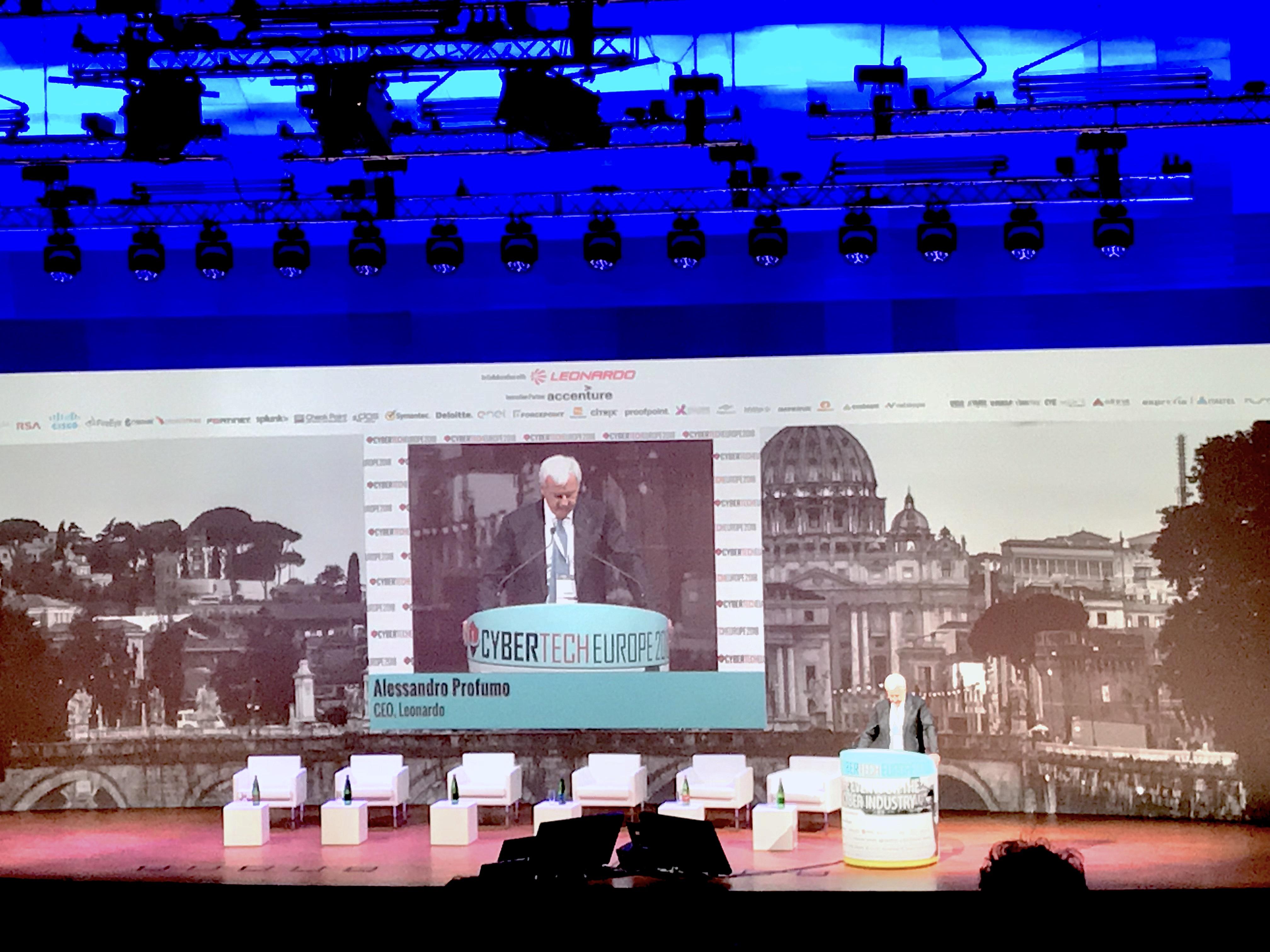 Alessandro Profumo (Leonardo) al Cybertech Europe 2018