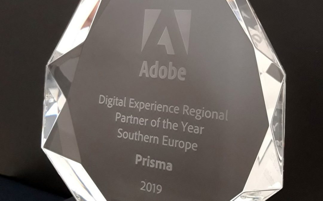 "Prisma è ""Digital Experience Regional Partner of the Year 2019"""
