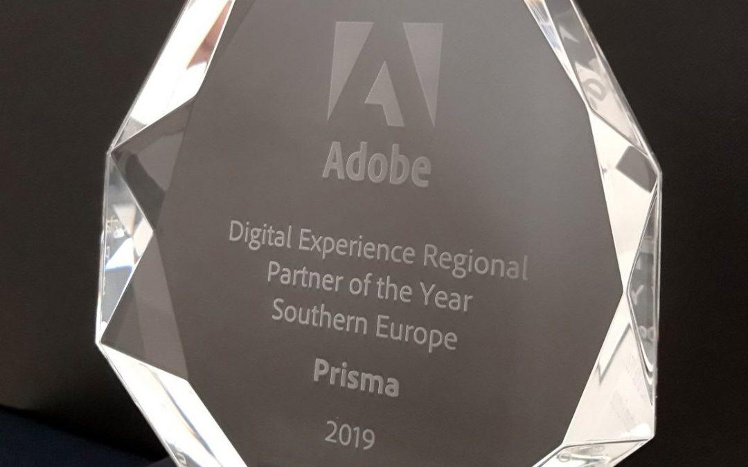 "Prisma è ""Digital Experience Regional Partner of the Year 2019"""